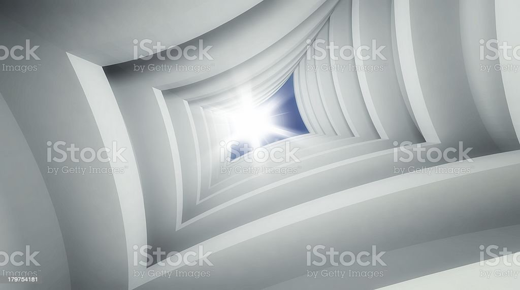 3d modern architecture interior royalty-free stock photo