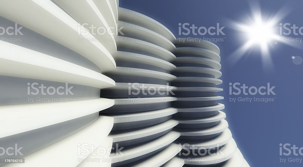 3d modern architecture outdoor royalty-free stock photo