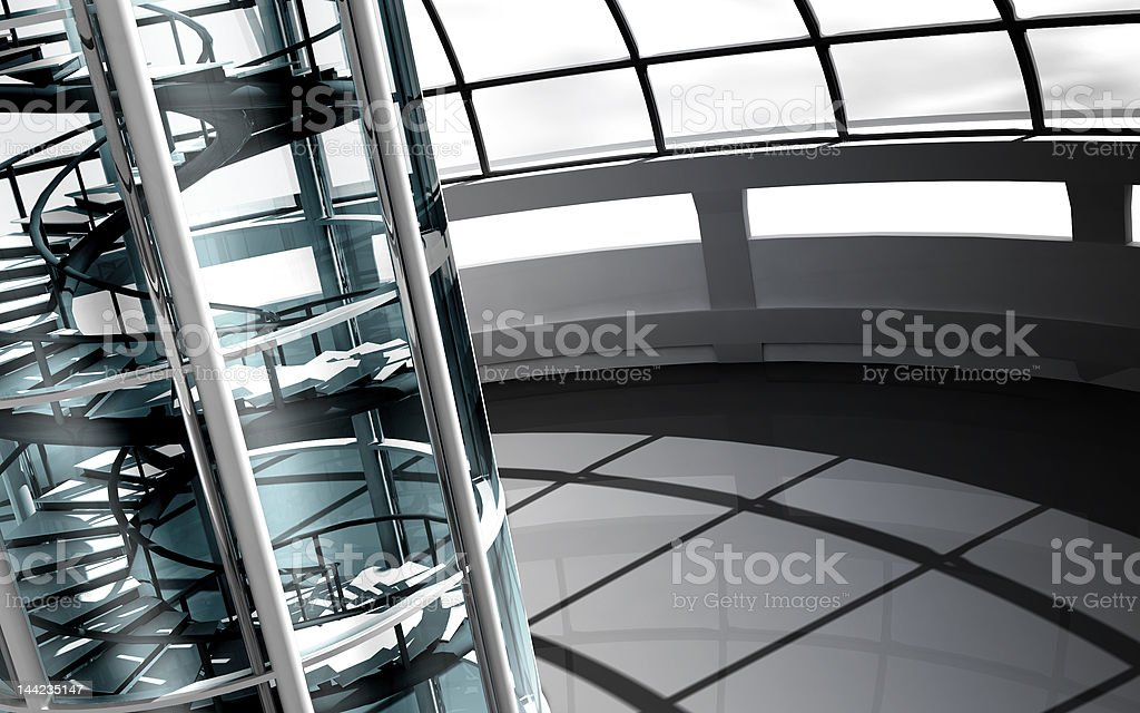 3d modern architecture royalty-free stock photo