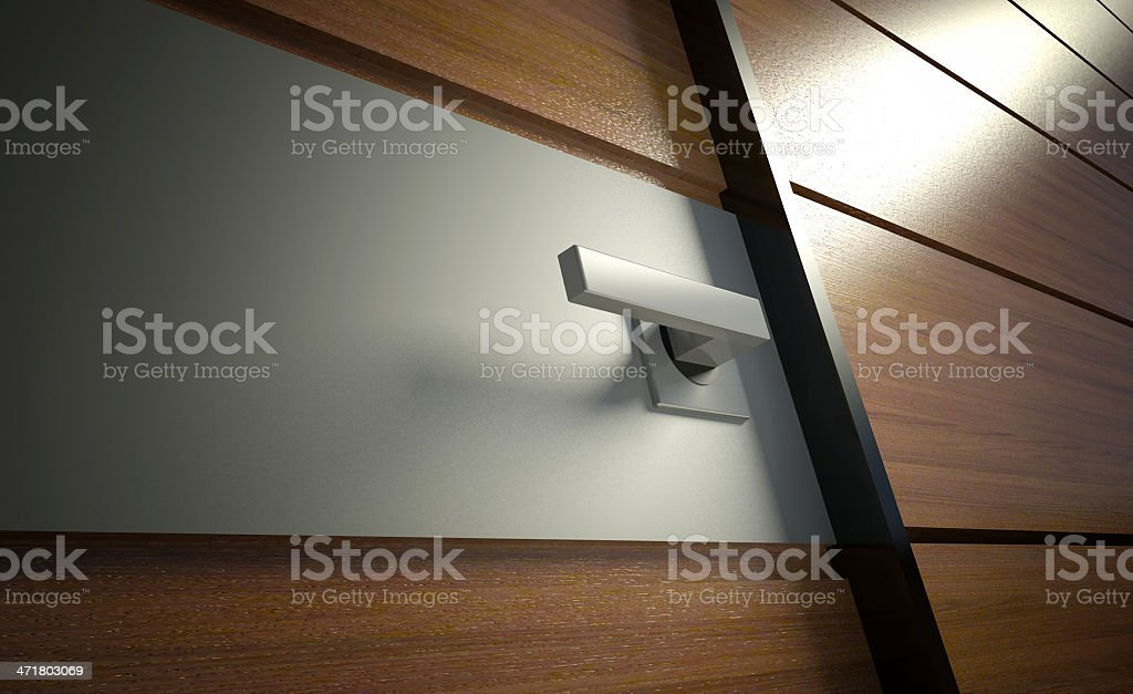 3d modern door handle royalty-free stock photo