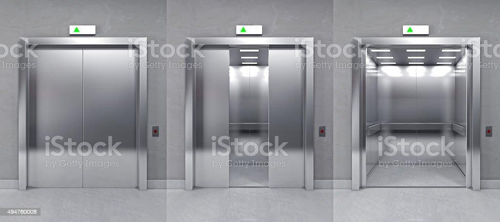 3d modern elevator stock photo
