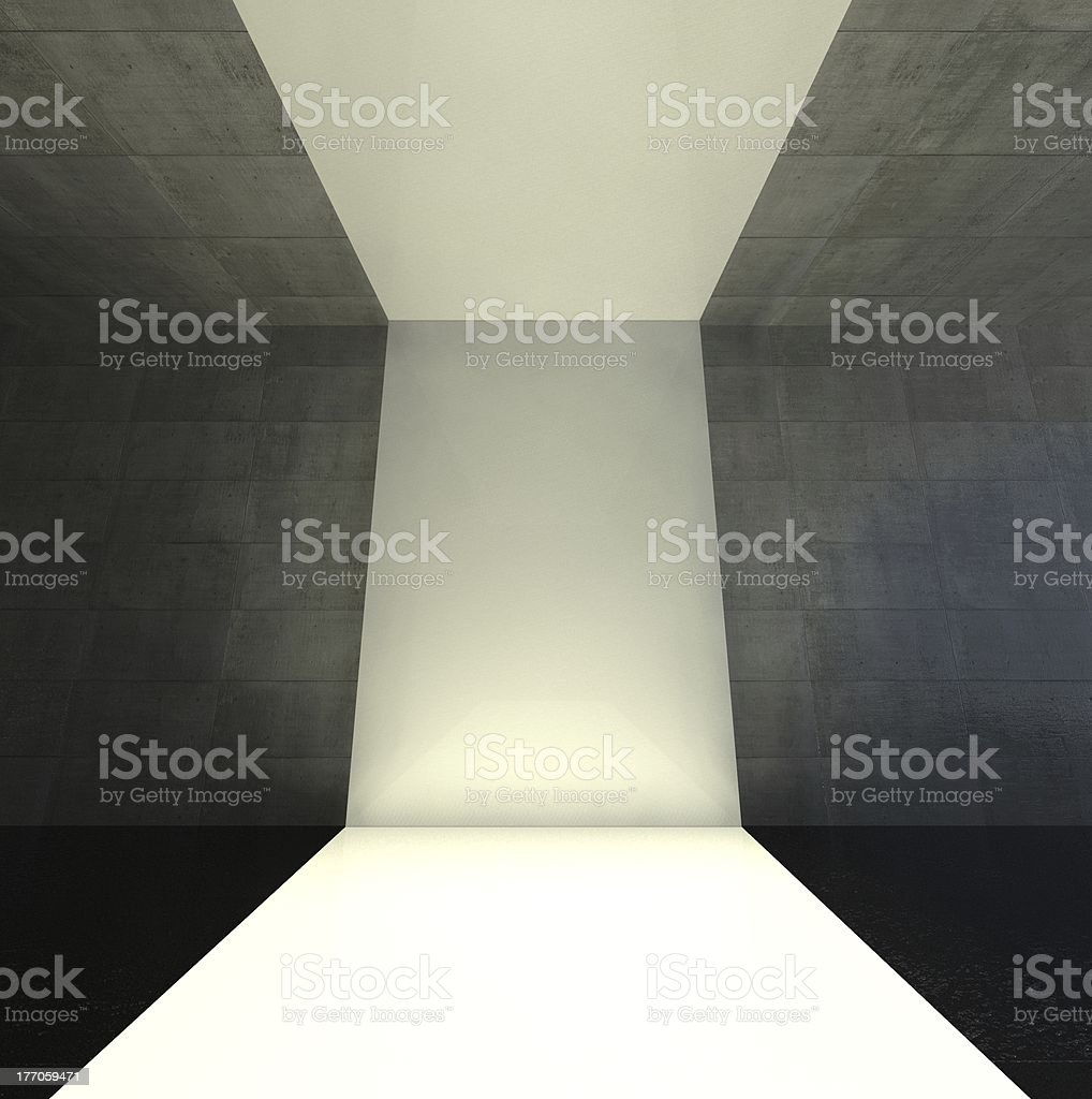 3d modern indoor, empty stage royalty-free stock photo