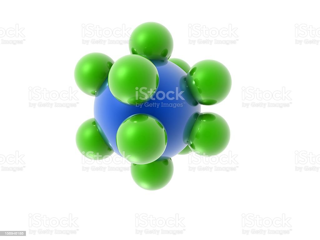 3d Molecular Structure royalty-free stock photo