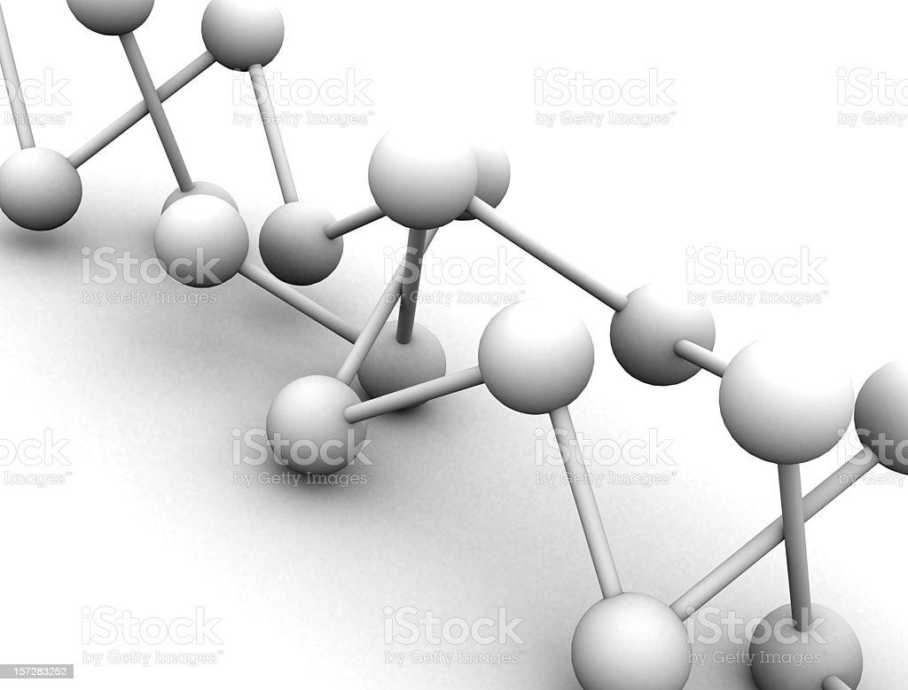 3d Molecule stock photo