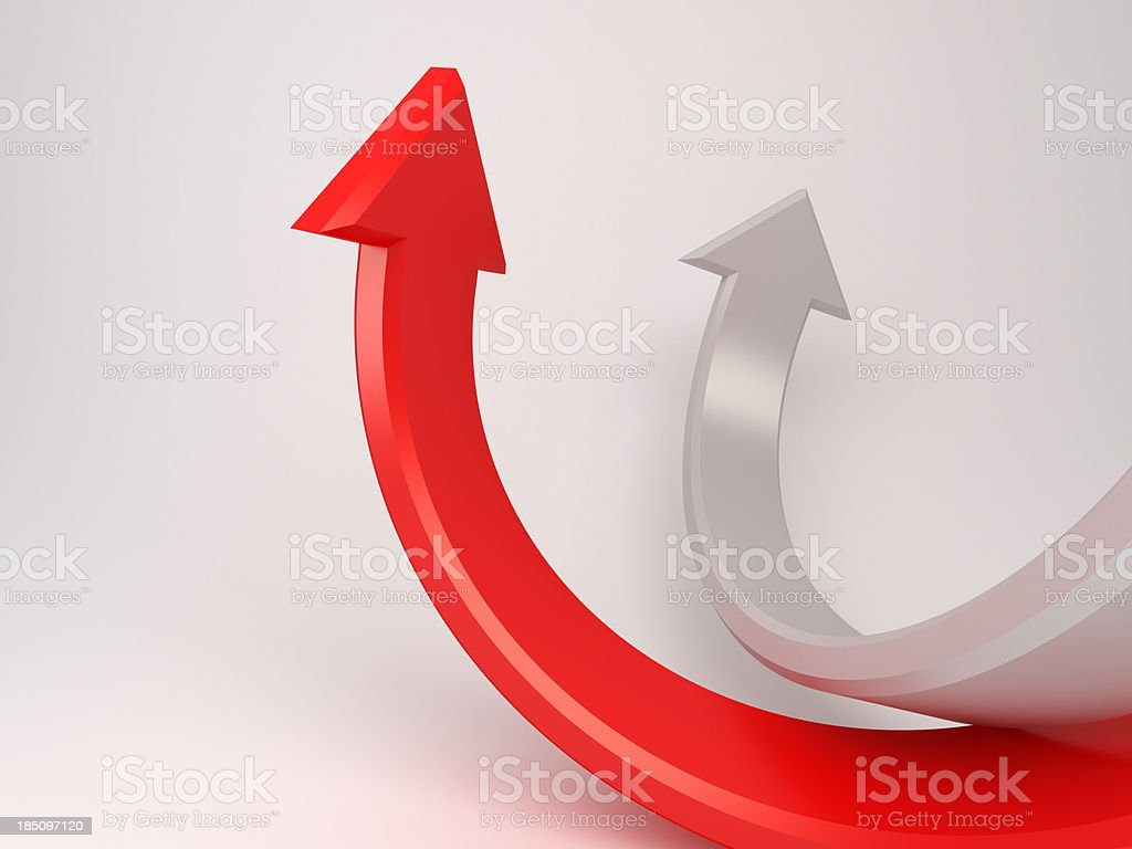 3d moving up arrows concept background royalty-free stock photo