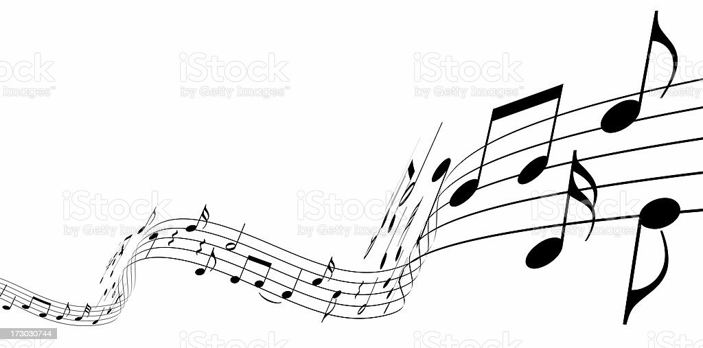 3d music notes stock photo