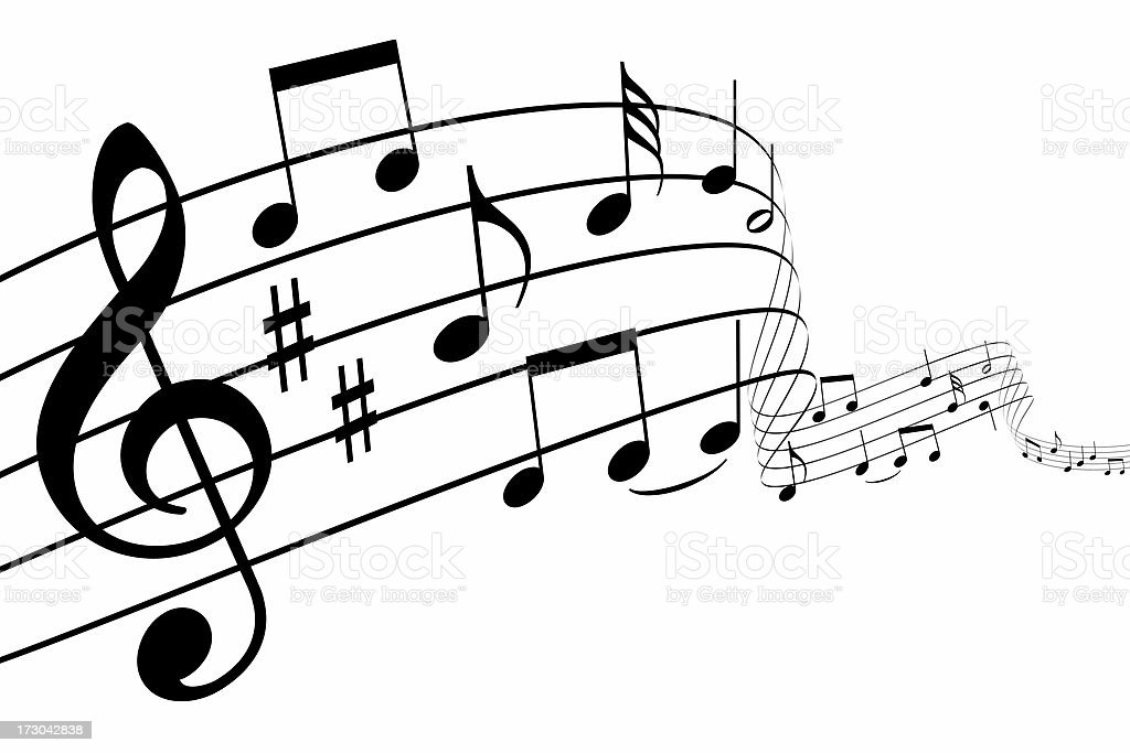 3d music notes royalty-free stock photo