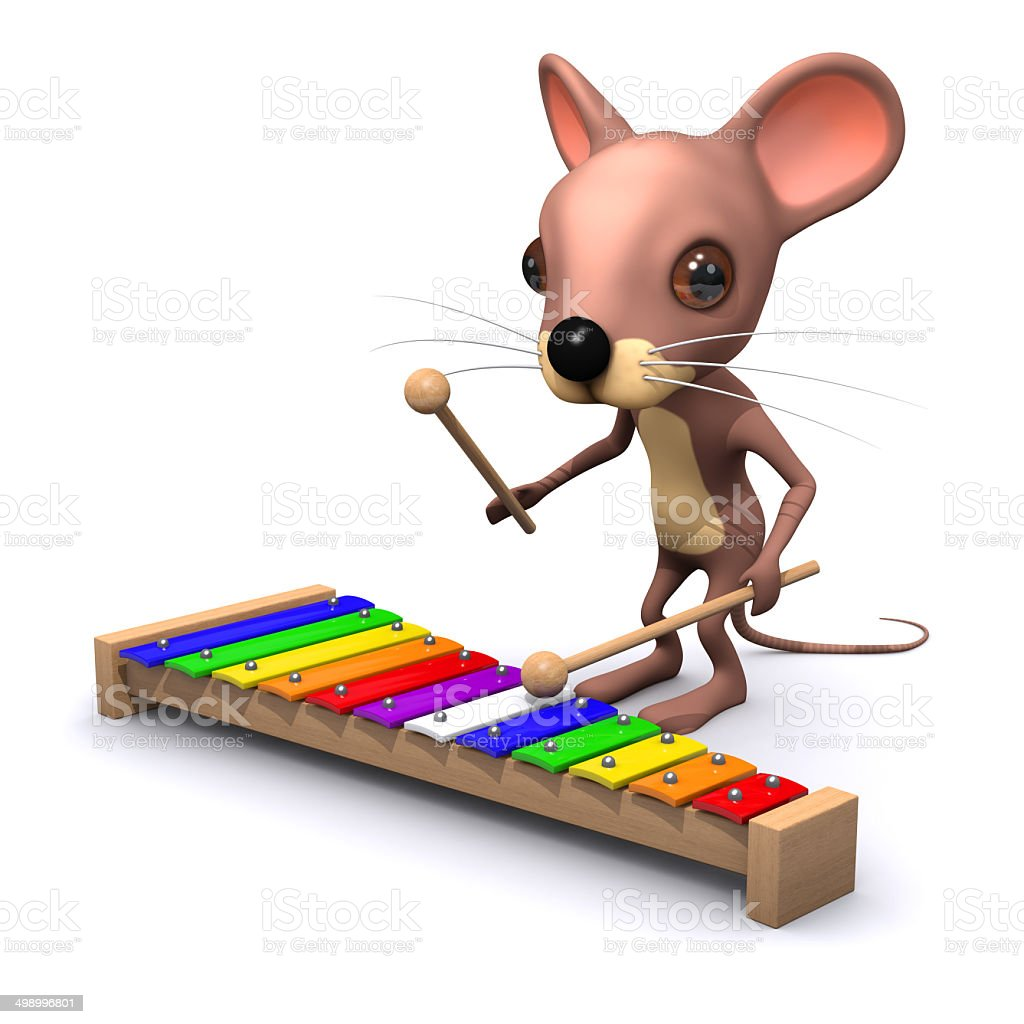 3d Musical mouse stock photo