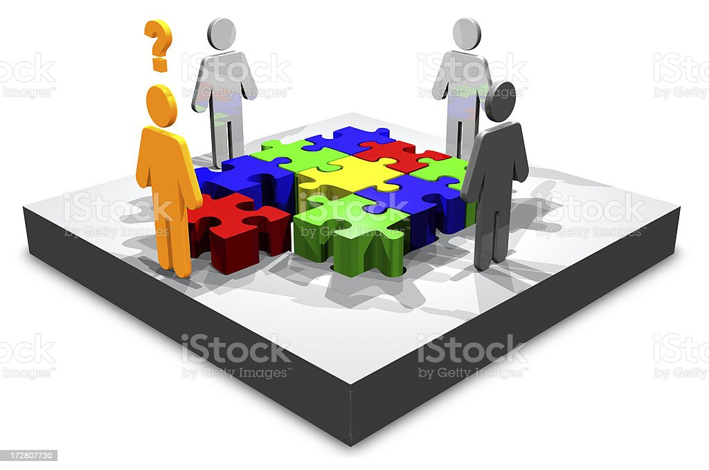 3d Need Help Solving Puzzle (XXL) stock photo