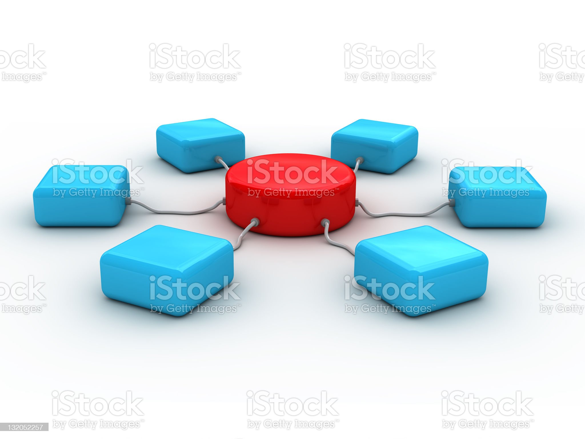 3d network concept royalty-free stock photo