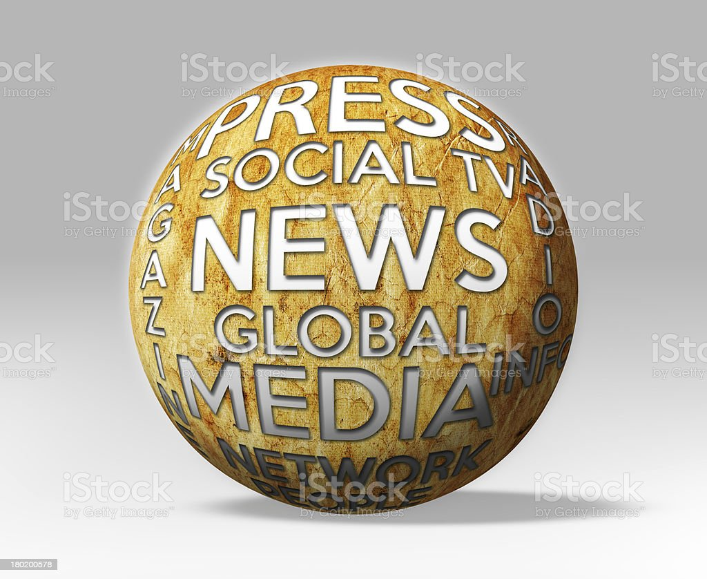 3d News Media and Press Globe royalty-free stock photo