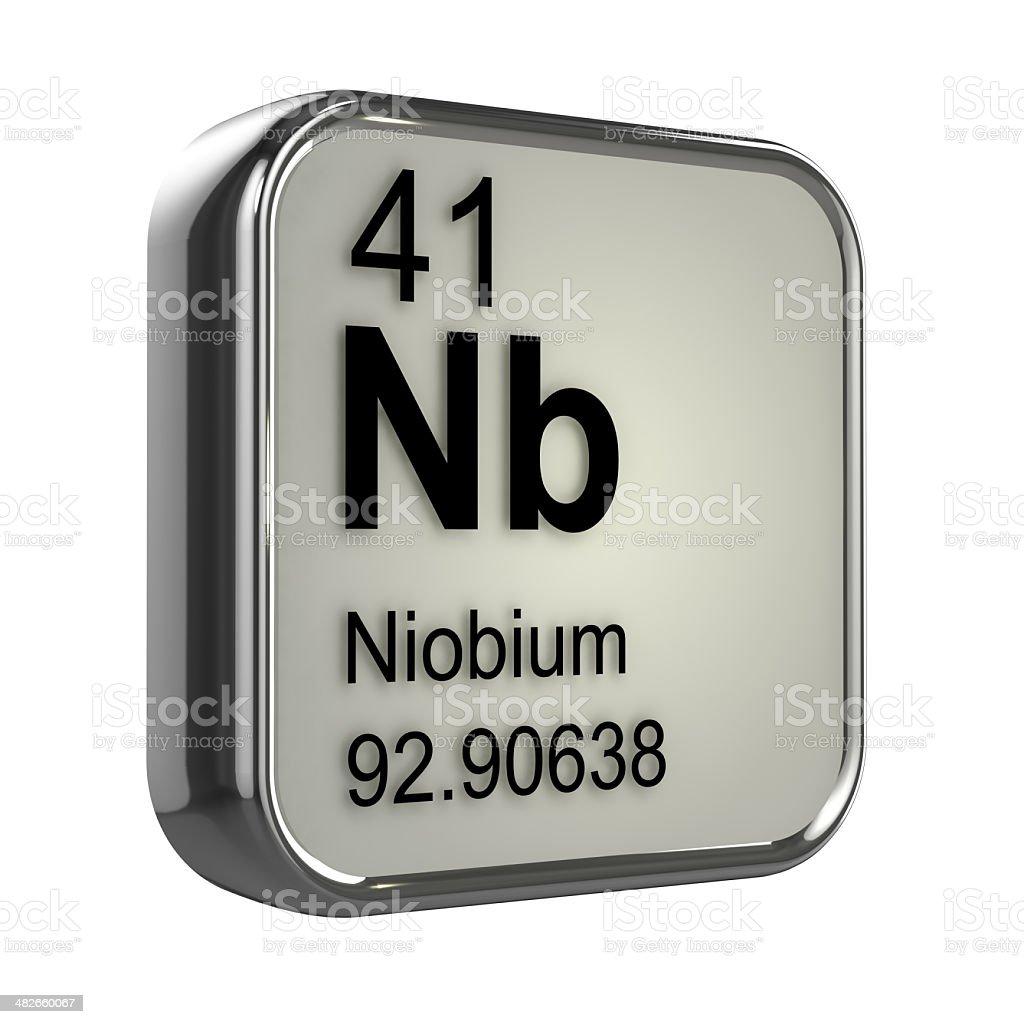 3d Niobium element design stock photo