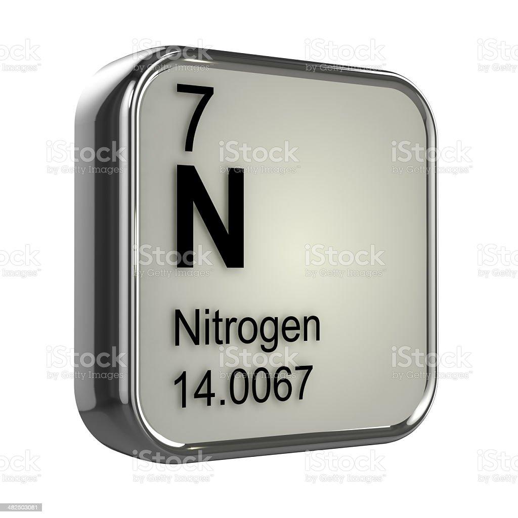 3d Nitrogen element stock photo