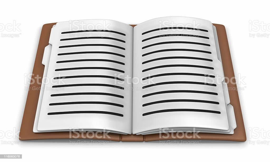 3d notebook royalty-free stock photo