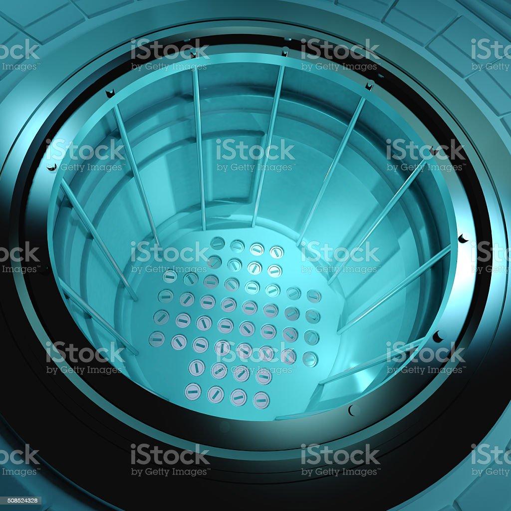 3d Nuclear reactor core stock photo