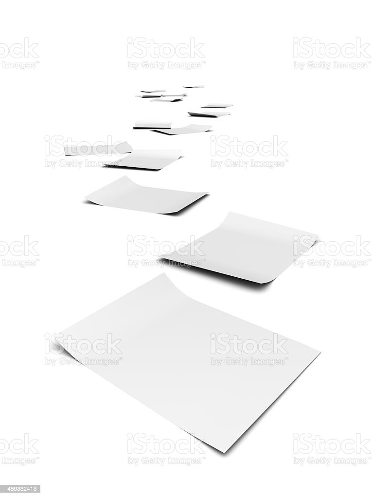 3d Paper trail stock photo