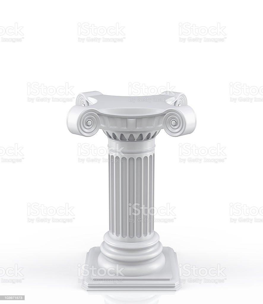 3d pedestal royalty-free stock photo