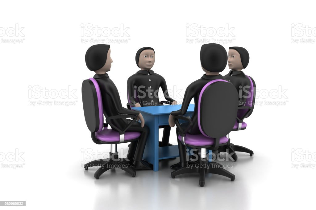 3d people in business meeting stock photo