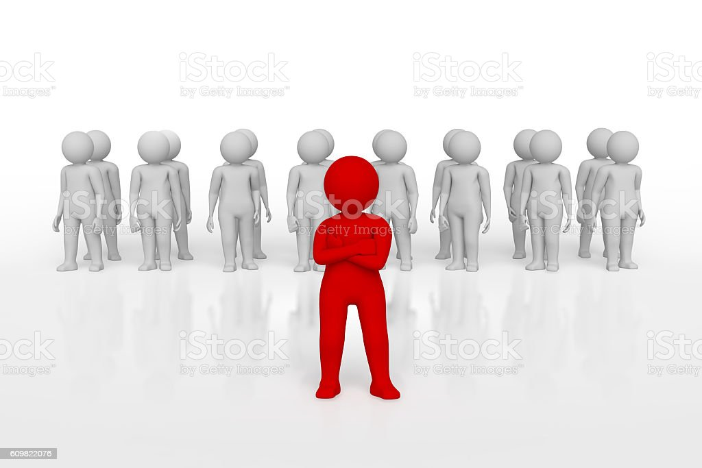 3d people - men, person in group. Leadership and team stock photo