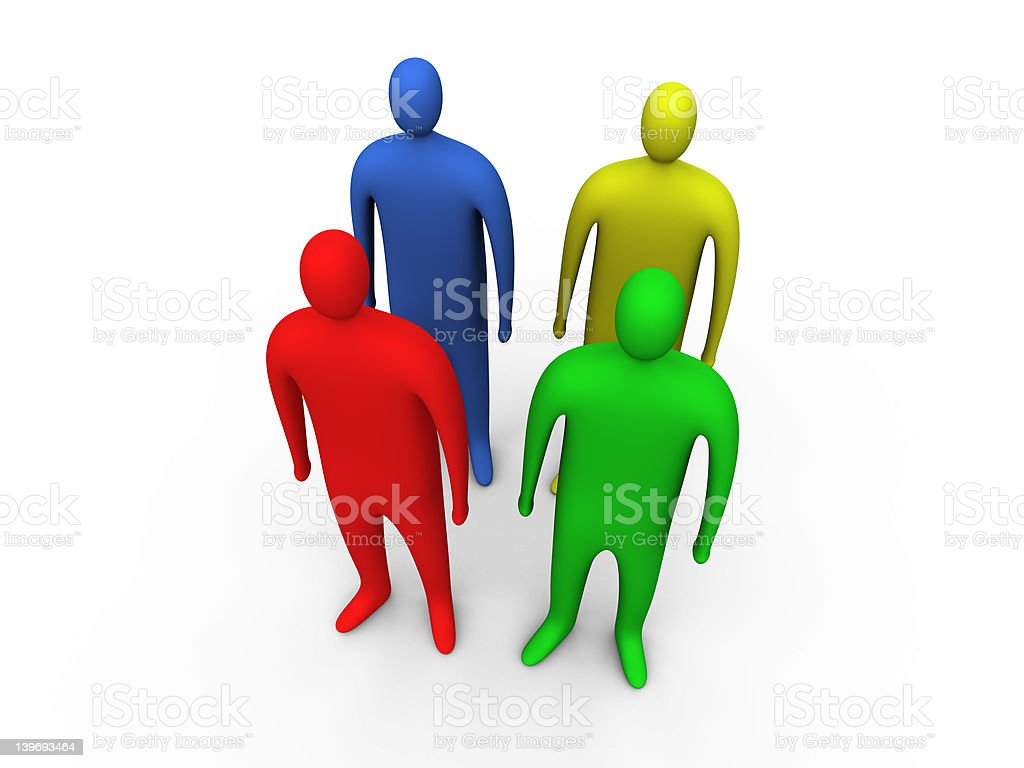 3d people standing #2 royalty-free stock photo