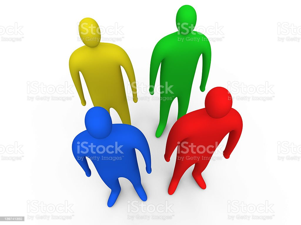 3d people standing #3 royalty-free stock photo