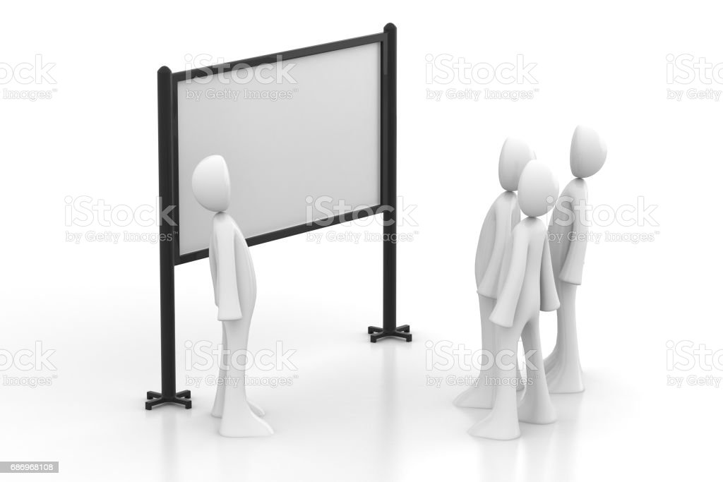 3d people studying stock photo