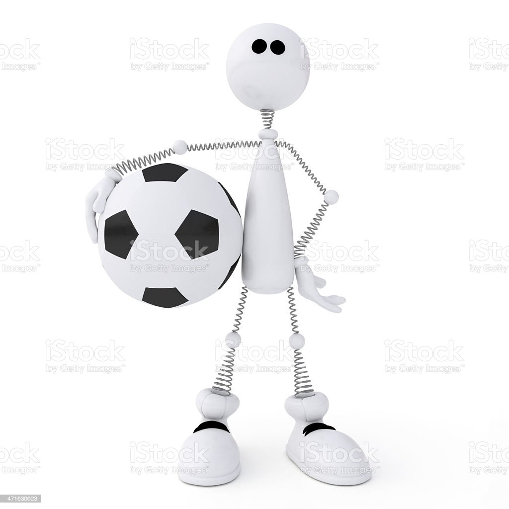3d person football player. royalty-free stock photo