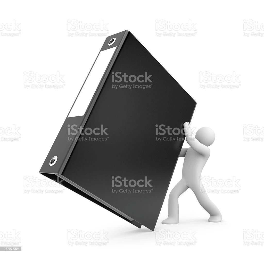 3d person hold binder stock photo