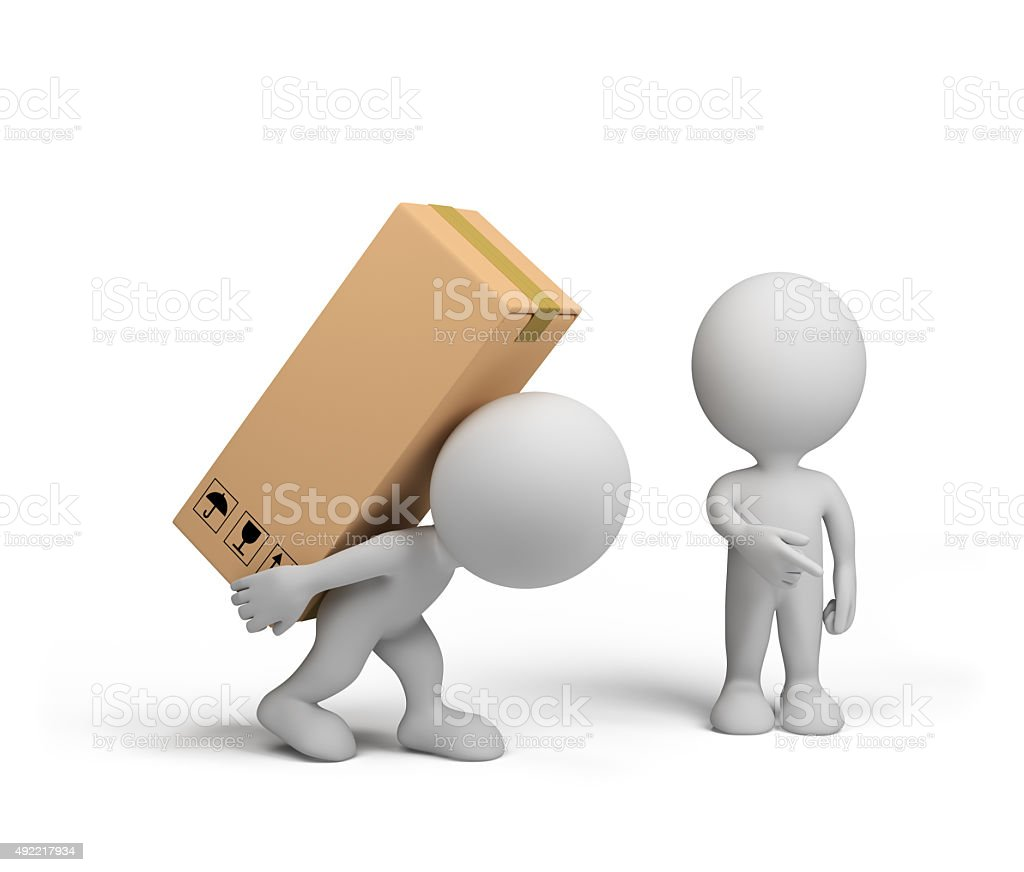 3d person – loader stock photo
