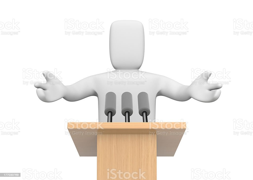 3d person speaking royalty-free stock photo