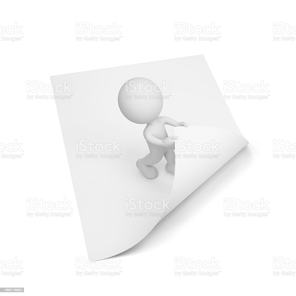3d person turns the page stock photo