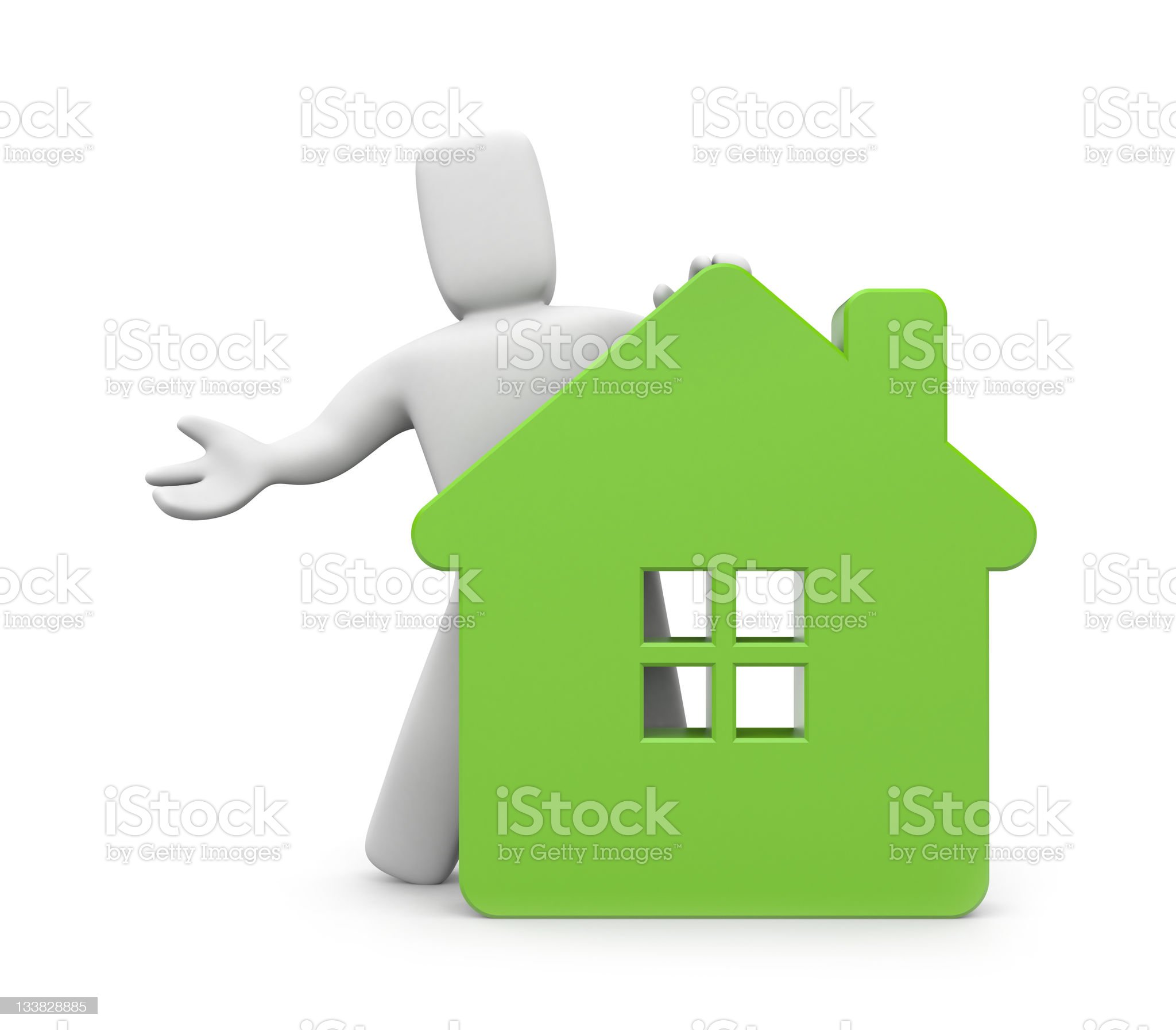 3d person with house royalty-free stock vector art