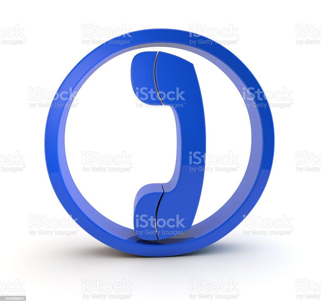 3d phone symbol stock photo