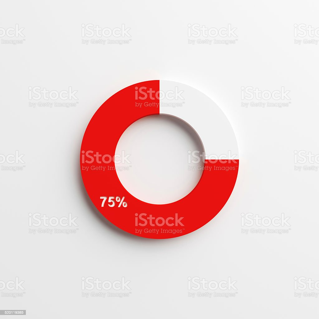 3d pie chart for business stock photo