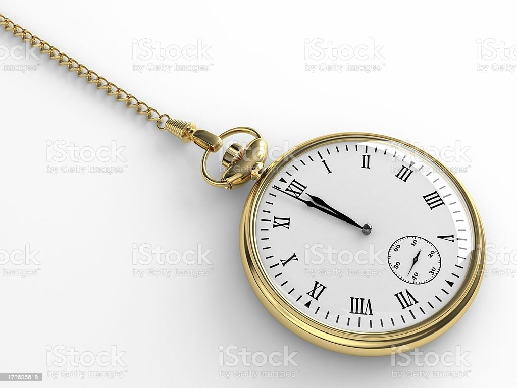 3d Pocket Watch royalty-free stock photo