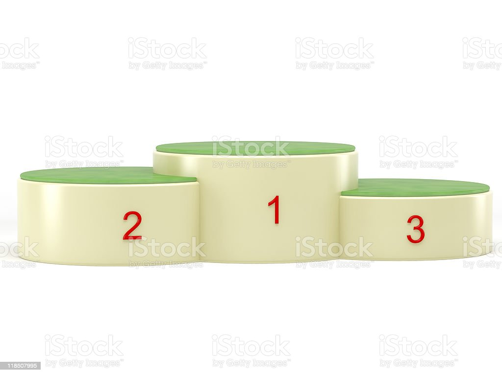3d podium royalty-free stock photo