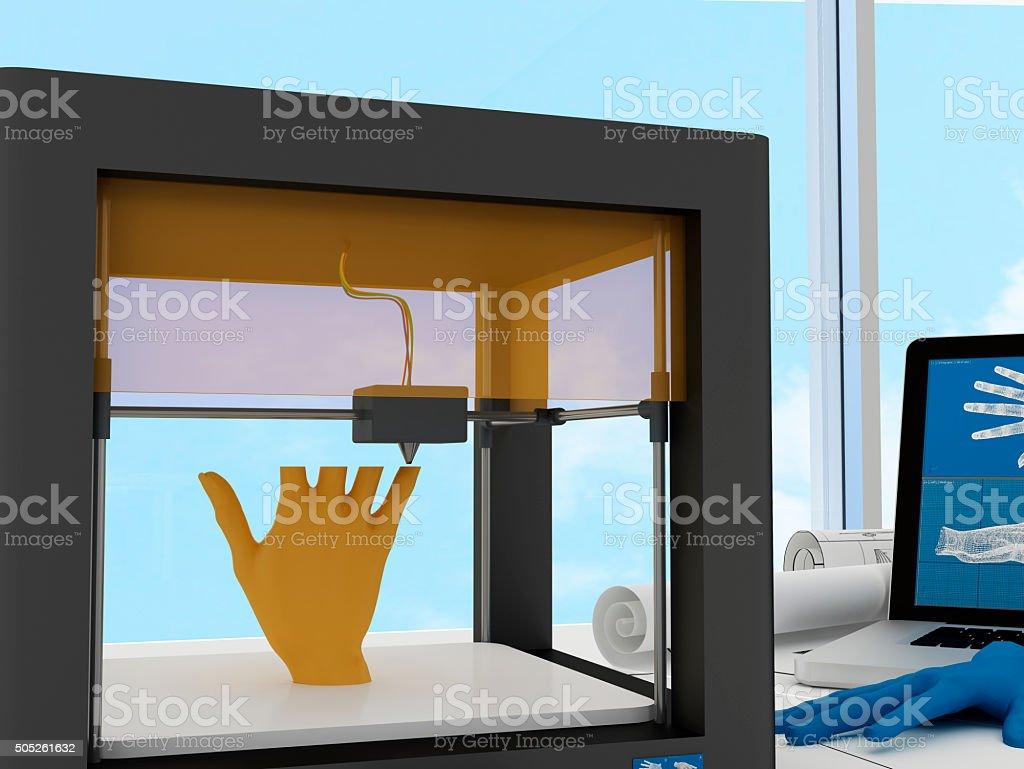 3d printed human hand stock photo