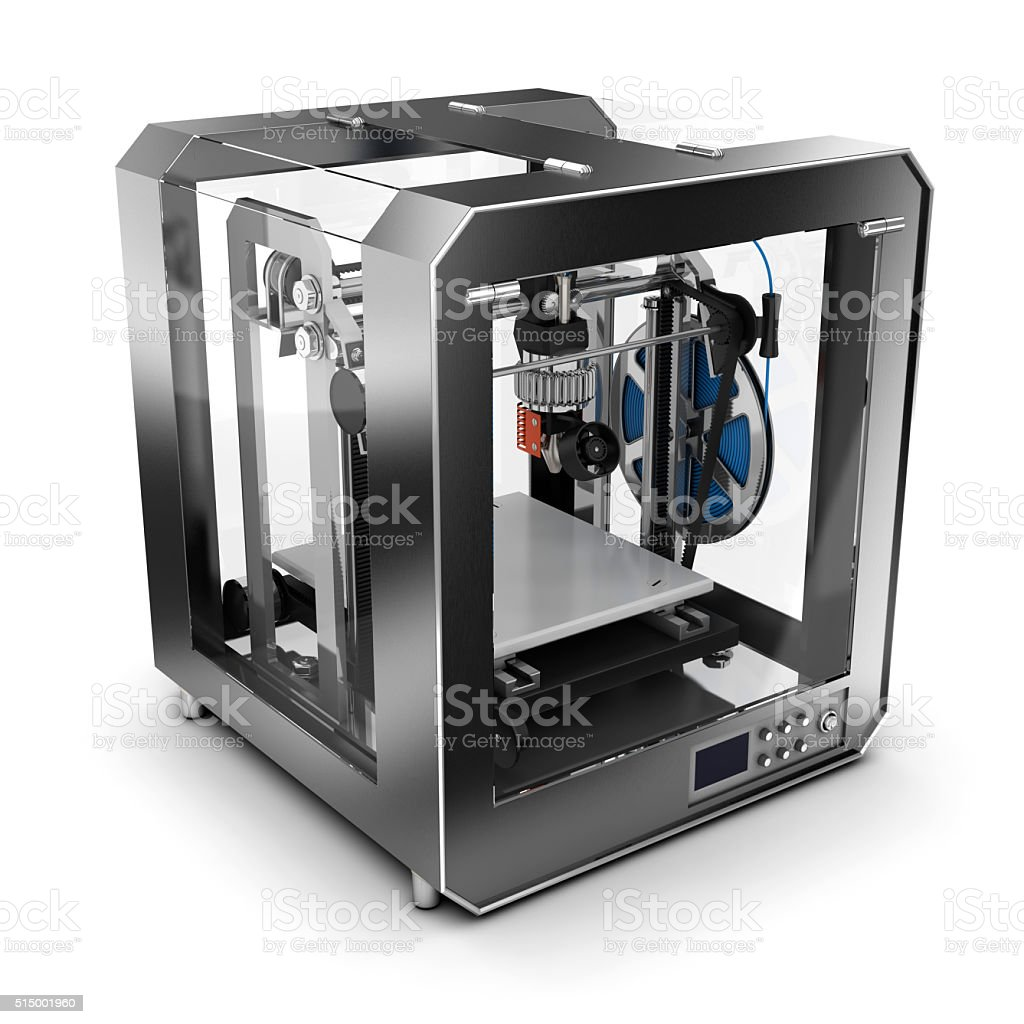 3d printer plastic. Isolated on white stock photo