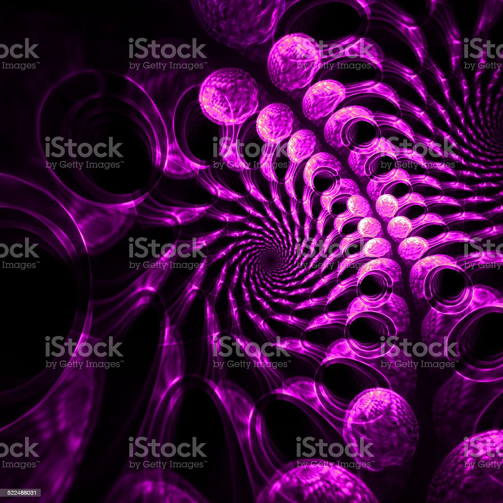 3d, purple fractals pattern. stock photo