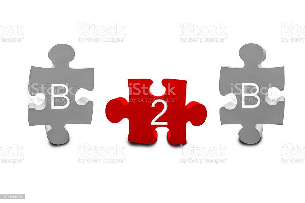 3d puzzle pieces b2b stock photo