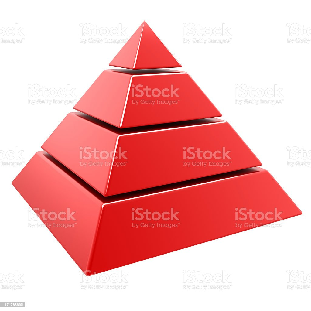 3d pyramid stock photo