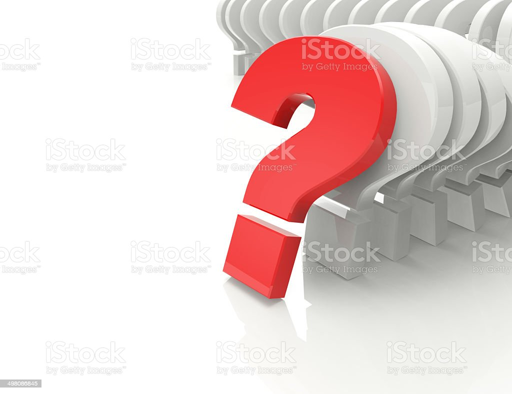 3d question marks background stock photo