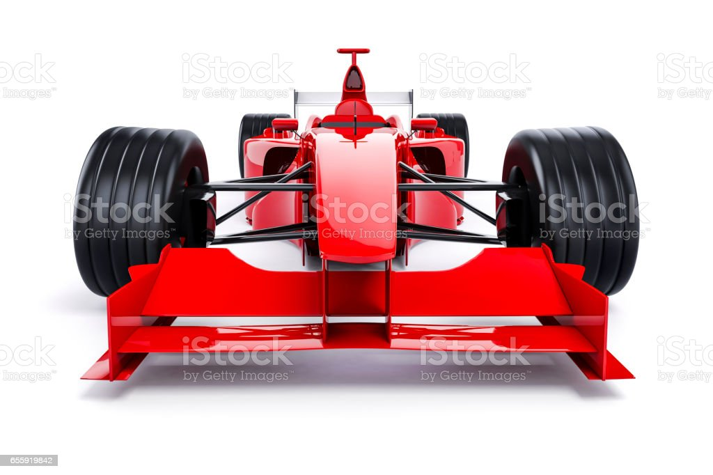 3d race car on white background stock photo