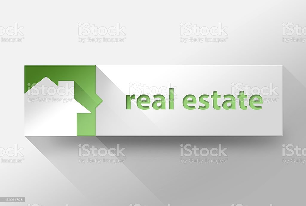 3d Real estate flat design, illustration stock photo
