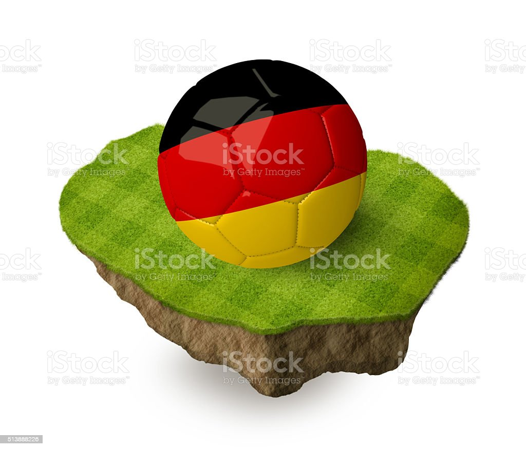 3d realistic soccer ball with the flag of Germany. stock photo