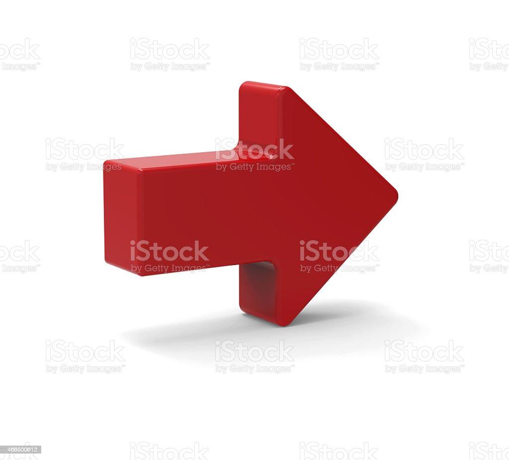 3d Red arrow symbol stock photo