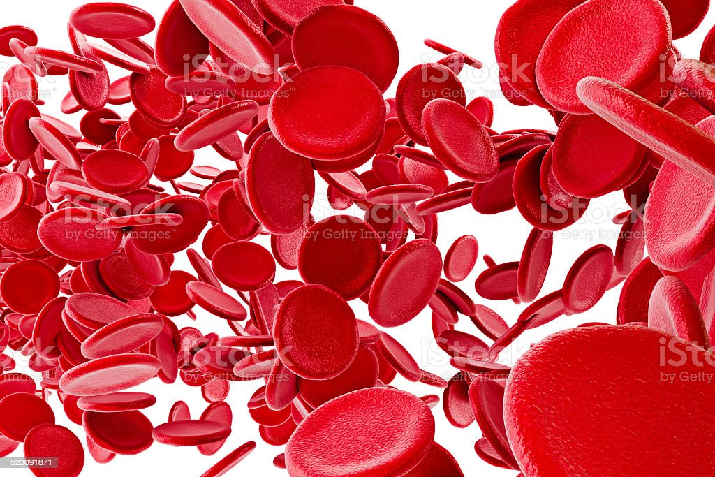 3d red blood cells stock photo