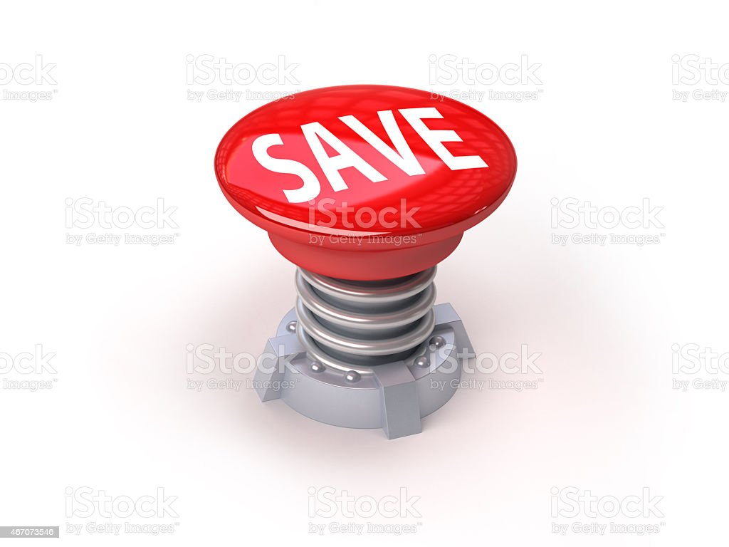 3d red button stock photo
