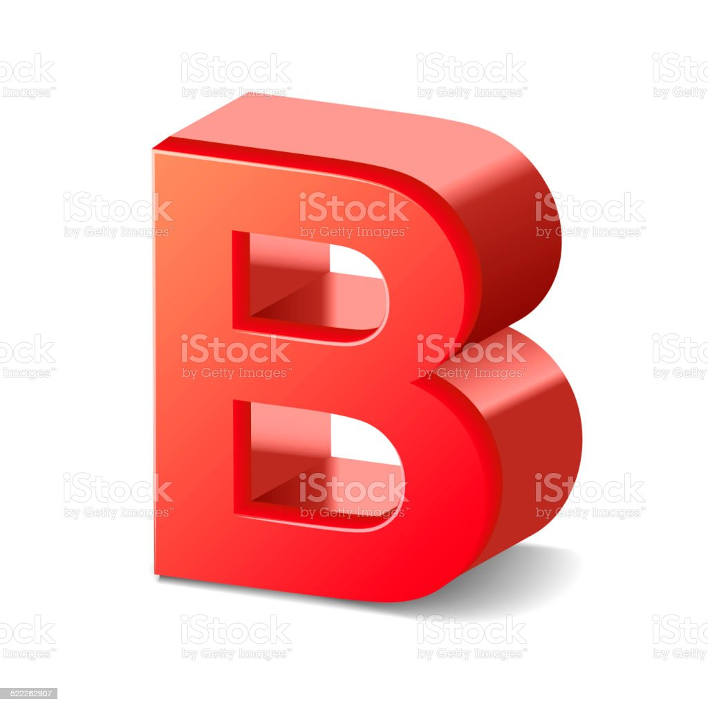 3d red letter B stock photo