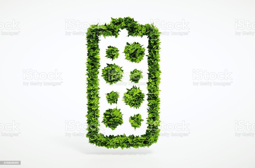 3d render alternative new battery concept stock photo